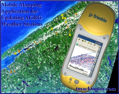 GIS Mobile Mapping with ArcPad - Mobile mapping application for updating weather station data project in the Annapolis Valley, Nova Scotia